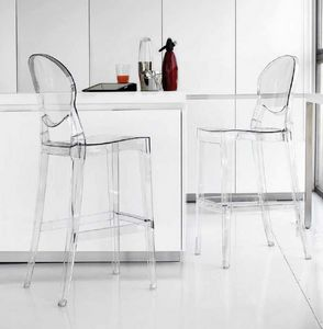 Artic-SG, Stool in plastic, transparent or glossy