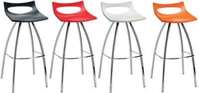 Diablito stool, Stool made of metal and polypropylene, fixed seat