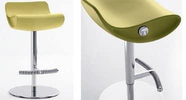 Momo 487, Innovative barstool, adjustable, swivel, for hotels
