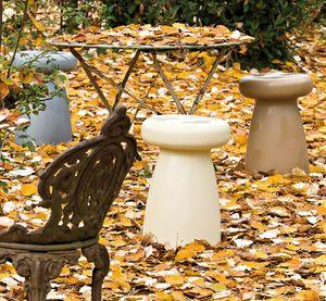 Porcino, Multipurpose outdoor stool, in polyethylene