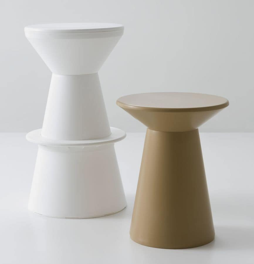 Roller, Barstool made entirely of polymer, original form