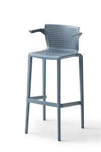 Spyker ST B, Stackable stool with armrests for bars