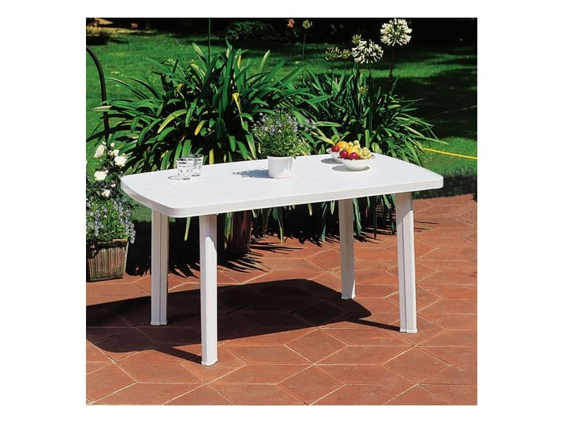 Faro, Rectangular plastic table, for outdoor use