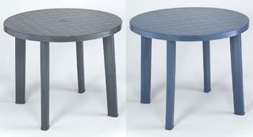 Tondo, Round table made of plastic, for outdoor use
