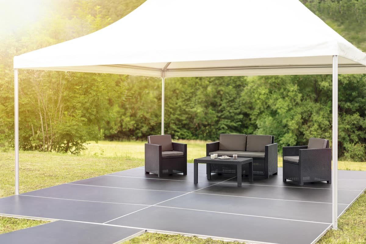Pedana-Terra, Modular and removable outdoor platforms