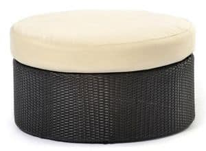 Arena pouf, Poufs in polyethylene, aluminum base, for external use