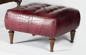 Art. 601/B, Upholstered pouf, covered with calfskin