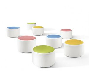 Bubble, Stuffed pouf with colorful seat