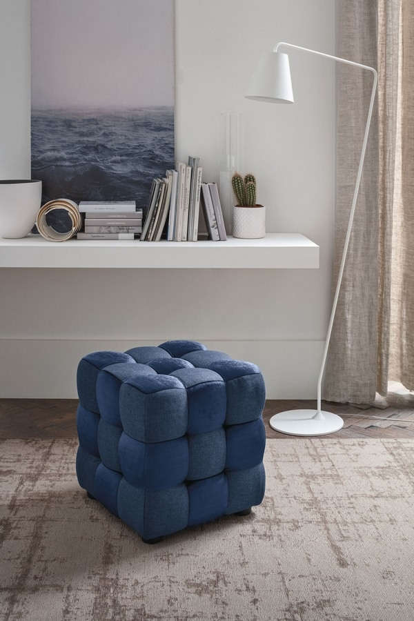CUBE PF600, Tufted ottoman ideal for modern