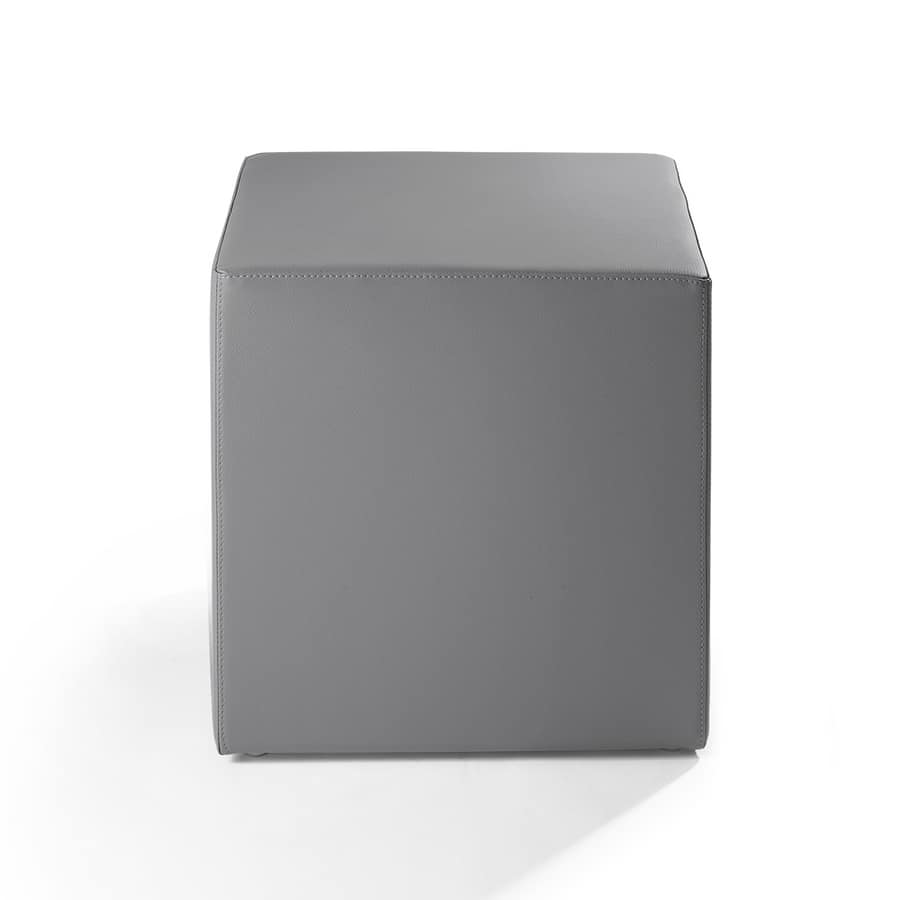 Cubo 45, Pouf for lounge area, padded with fireproof rubber