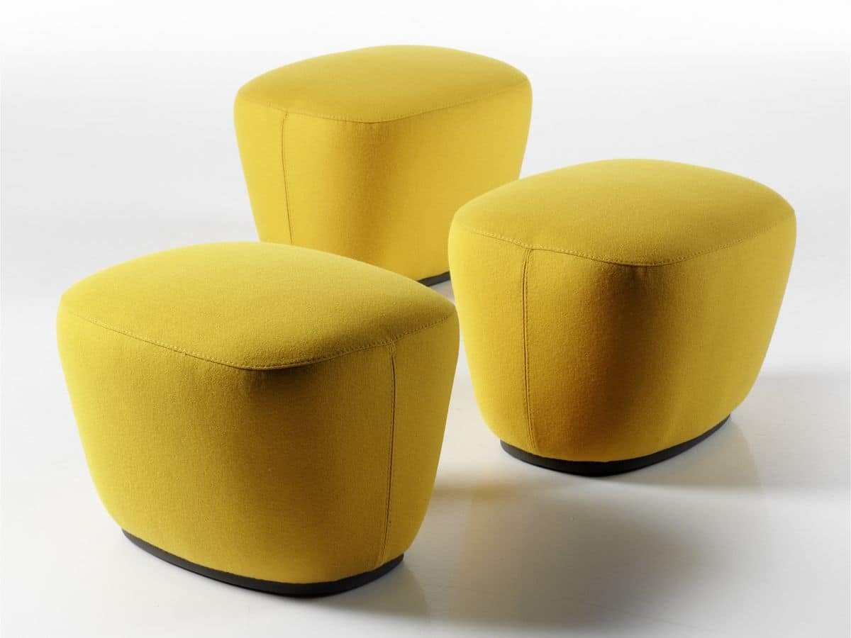 Embrace pouf, Modern pouf, fabric covering, ideal for homes and offices