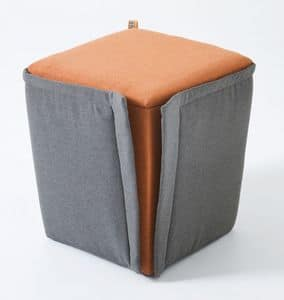 Finferlo, Upholstered pouf with removable cover