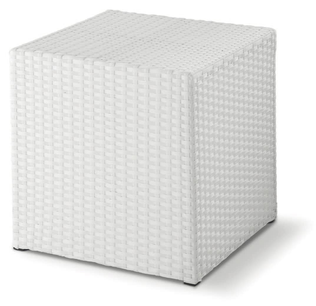 FT Pouff, Sessions low intertwined, cube-shaped, outdoor