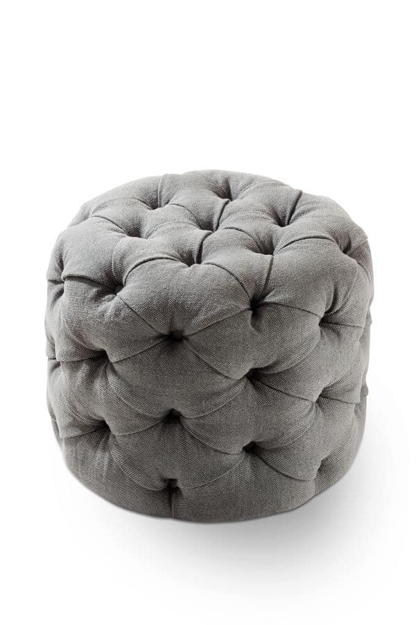 George pouf, Modern padded tufted pouf for stand rooms