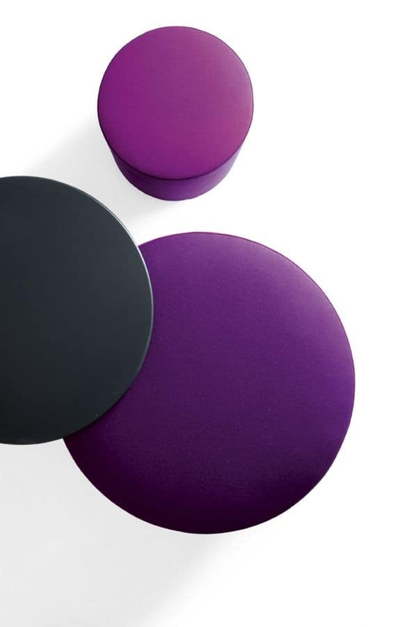 Modern Single Color Pouf With Wheels For Waiting Areas IDFdesign New Pouf On Wheels