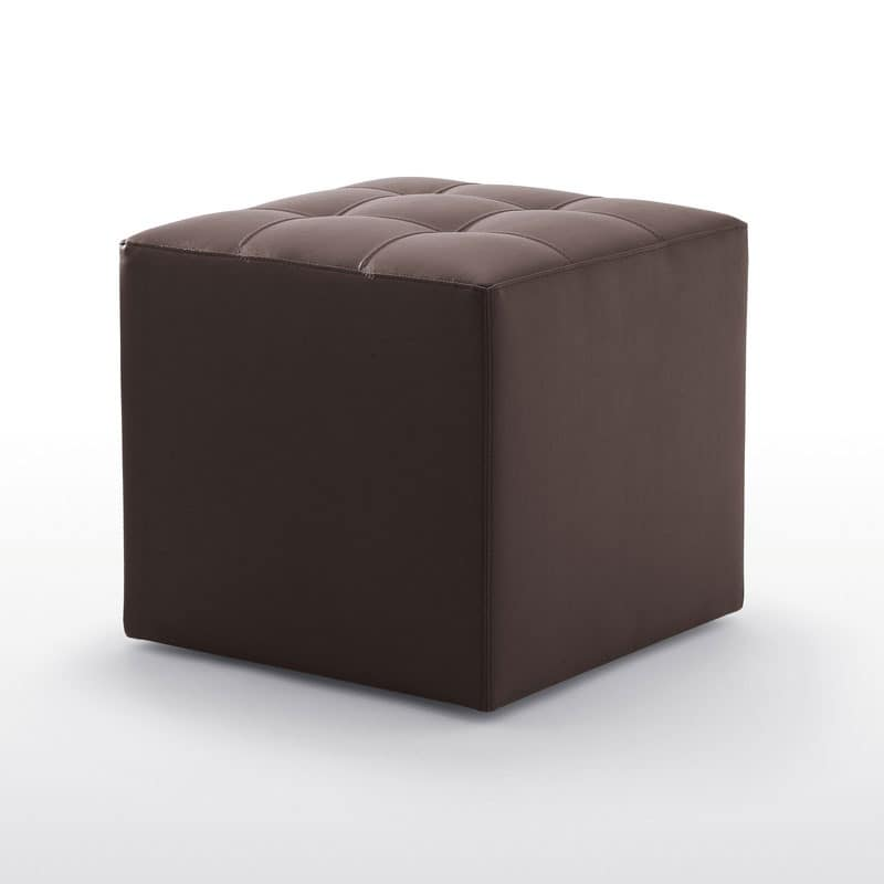 Kubox, Modern upholstered pouff with wheels