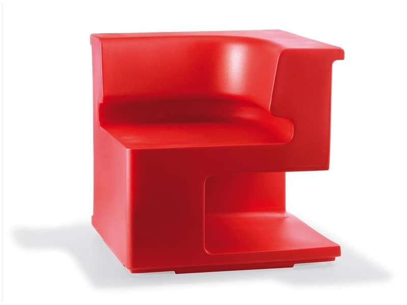 Maxò, Modular armchair fully made in polyethylene, for indoor and outdoor use