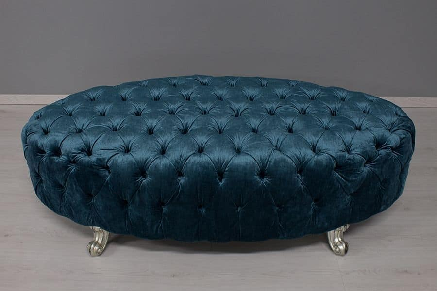 Oceano, Pouf classic luxury with capitonné