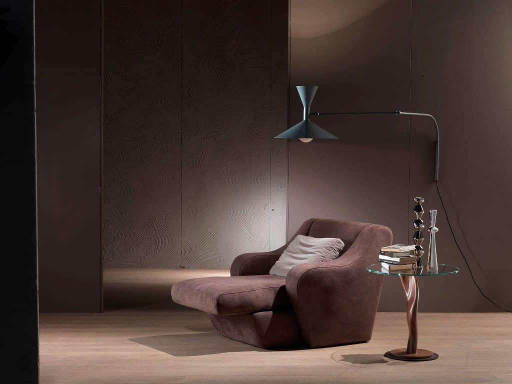 PO49 Morfeo, Armchair with extensible seat, upholstered polyurethane