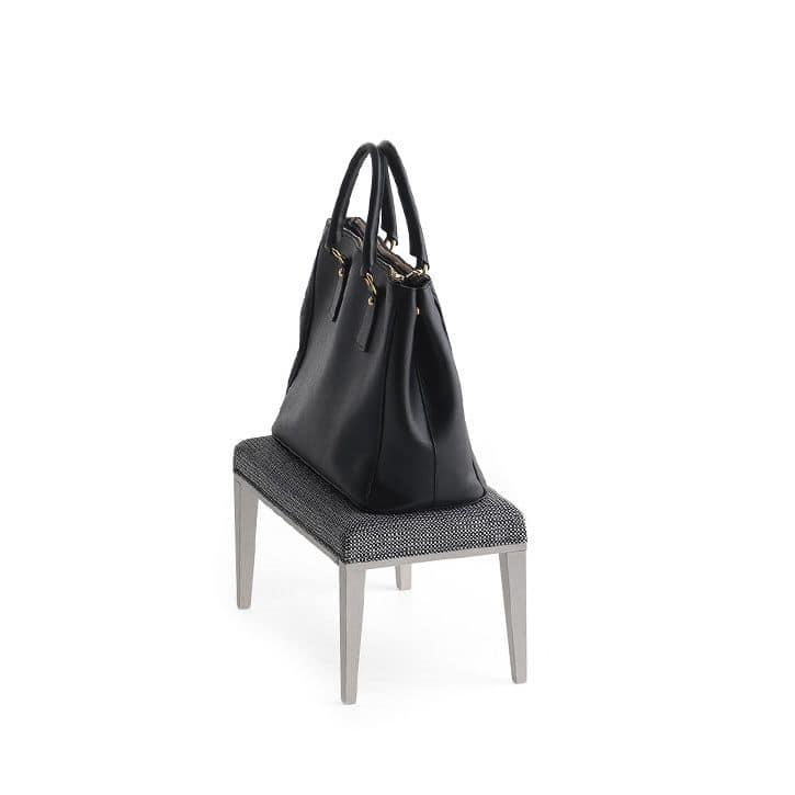 Pouf 01317, Rectangular racks stool, fabric covering