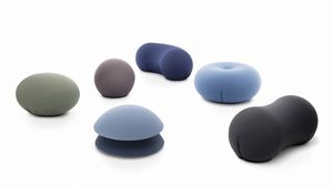 Tato Collection, Collection of poufs of various shapes and colors