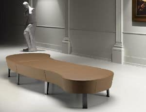 ZEN 735 - 736, Padded modular bench ideal for shops