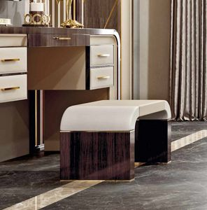 ART. 3376, Pouf in wood and leather