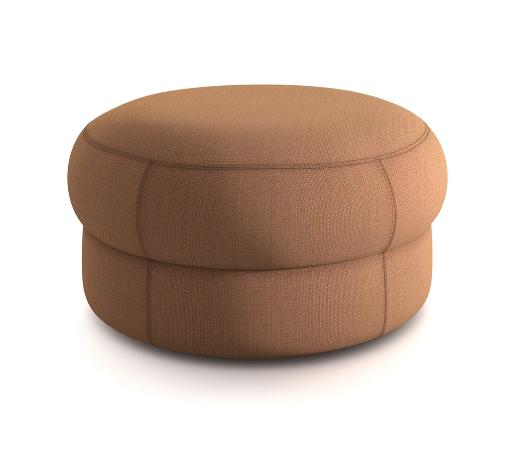 Cèpe M, Pouf covered in fabric