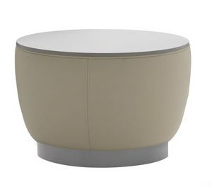 Diadema 04012L, Pouf coffee table with wooden top