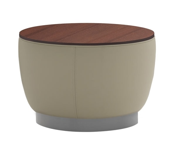 Diadema 04012, Pouf coffee table with wooden top