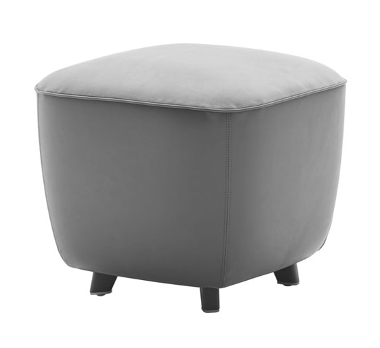 Diadema 04020 - 04021, Square pouf with feet
