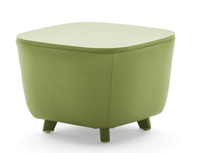 Diadema 04023, Pouf coffee table with wooden feet