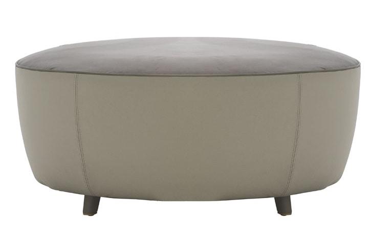 Diadema 04040 - 04041, Round pouf with wooden feet