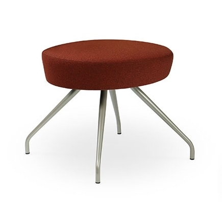 ELIPSE 1P, Pouf covered with steel legs