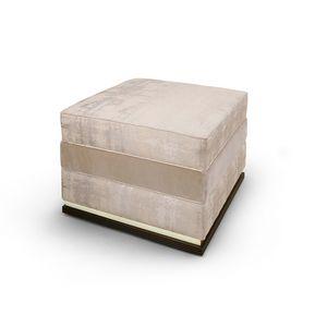 FLORA / pouf, Padded footrest pouf