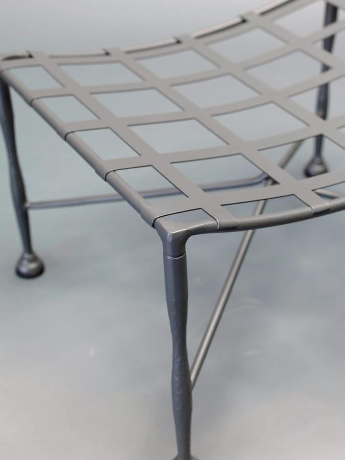 INTRECCIO GF4004PO, Wrought iron pouff for outdoor