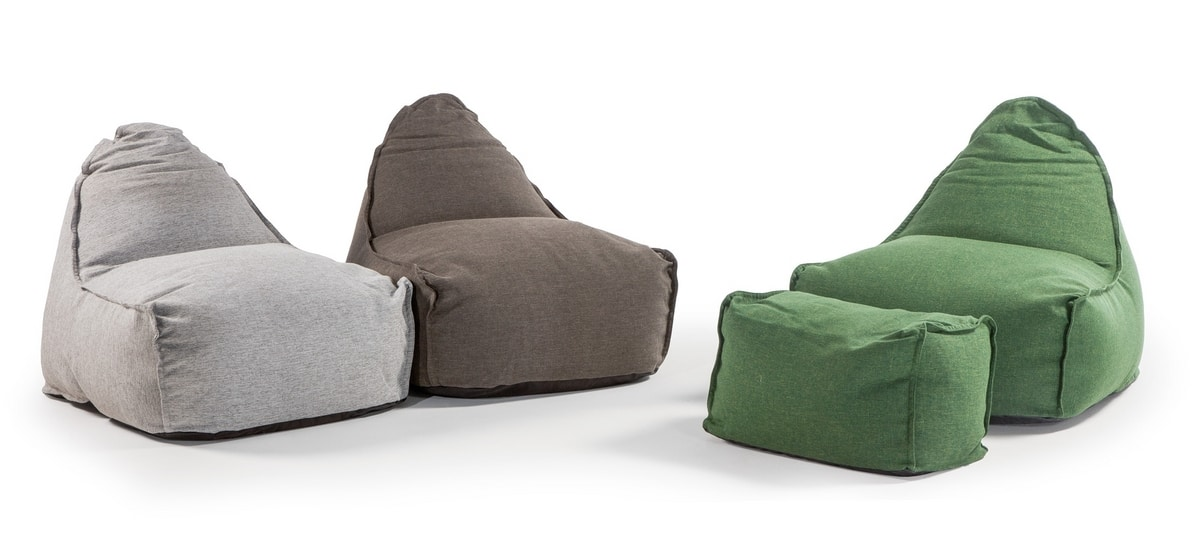 Kiwengwa, Outdoor pouf with sun-resistant fabric