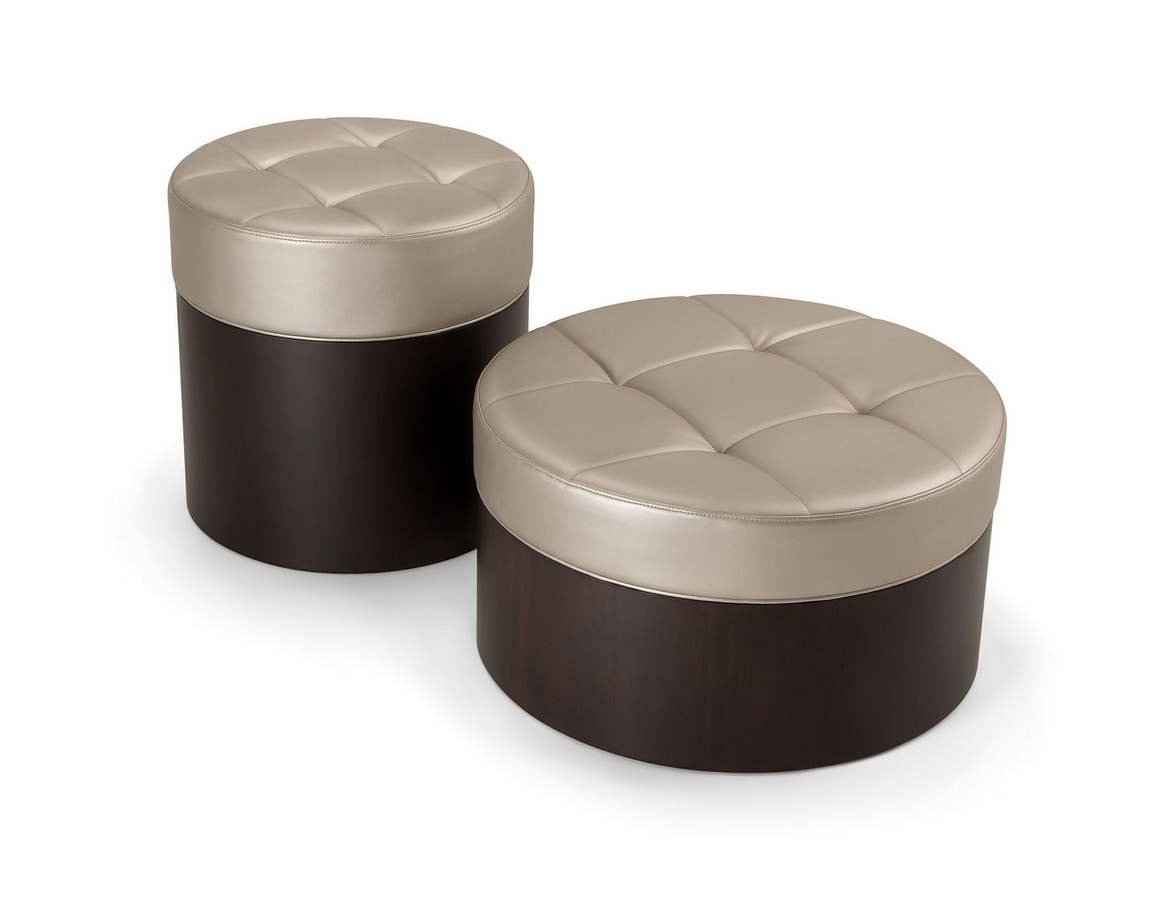 OSLO COFFEE TABLE 086 P H30, Low round pouf