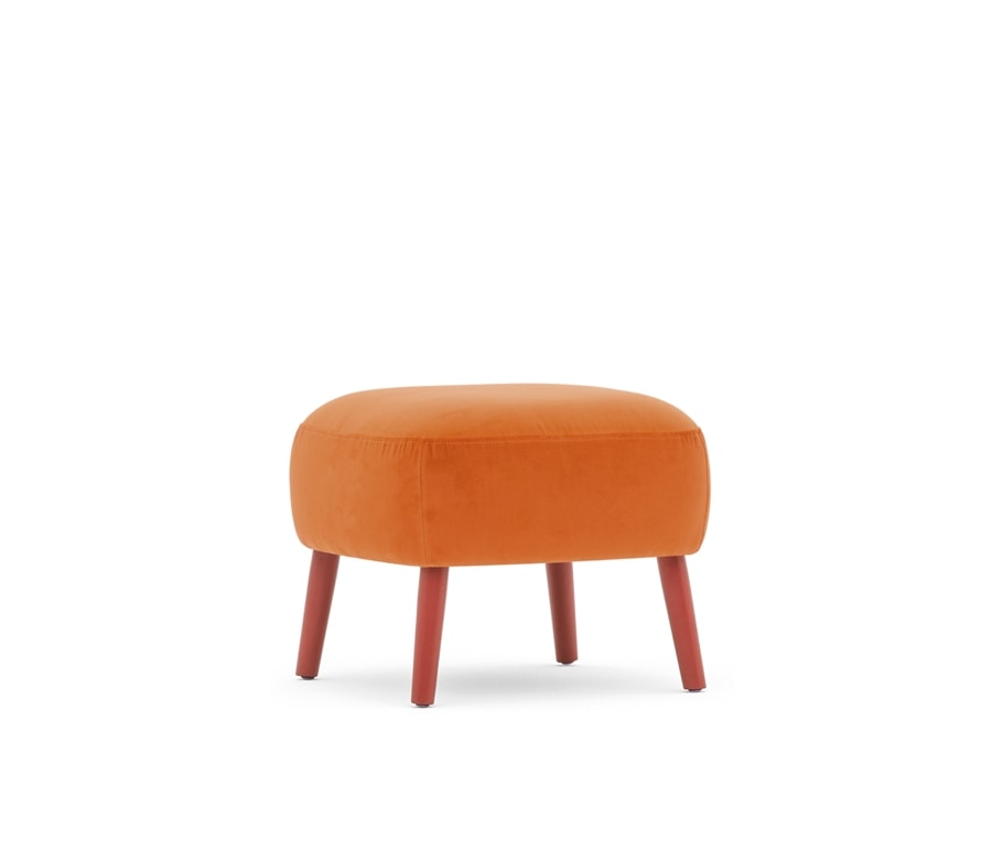 Rose 03001, Soft pouf with wooden legs