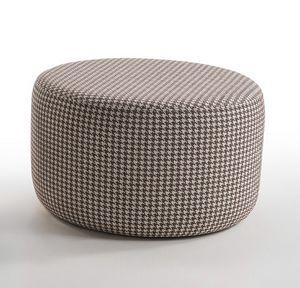 Soho, Upholstered round pouf