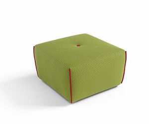 Yuki, Square pouf covered in fabric