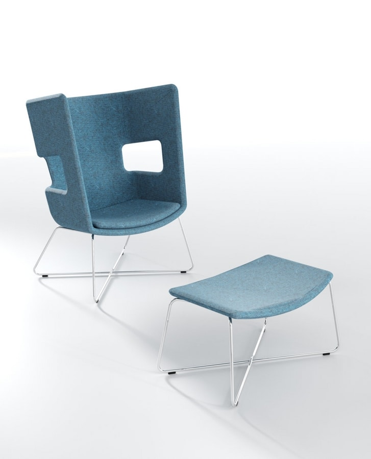 Zeus 4, Padded pouf for waiting rooms