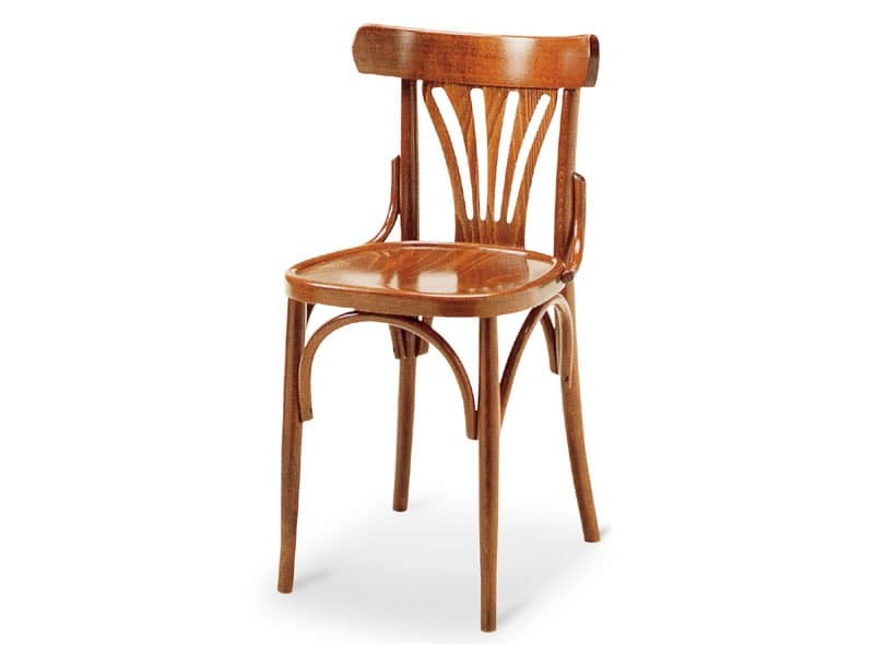 092, Chair in wood without armrests, old style