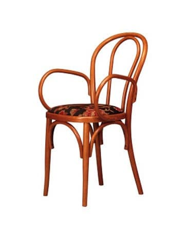 109, Bentwood chair with armrests, for ice cream parlors