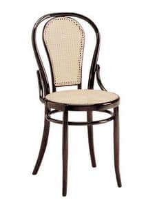 21, Chair in wood with cane seat and backrest