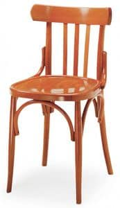 B07, Bentwood chair, backrest with vertical design, ideal for bars and pubs