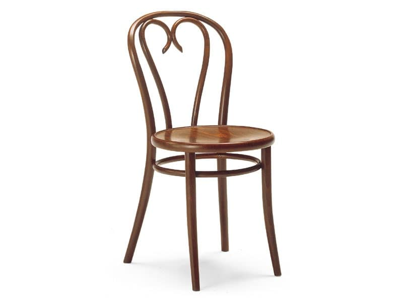 Berlino, Chair in wrought wood, for bars and pubs