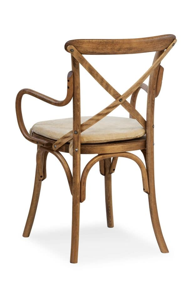 Ciao CB PILL, Wooden curved chair with armrests