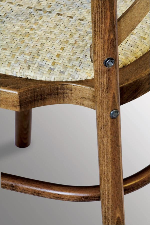 Ciao STK, Stackable chair in solid wood