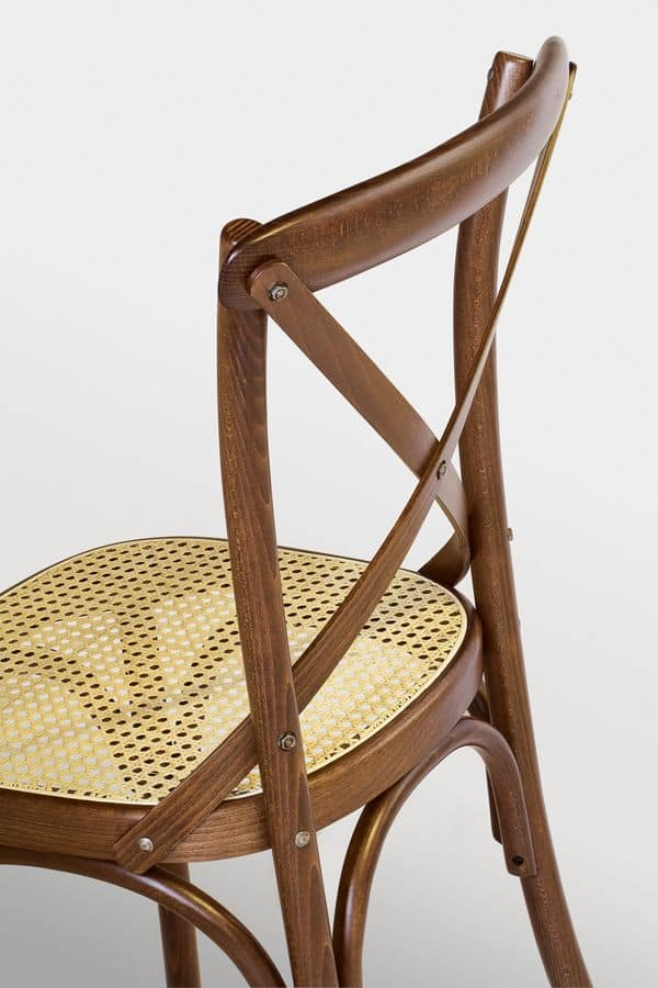 Ciao W, Chair in beech wood, Vienna straw seat